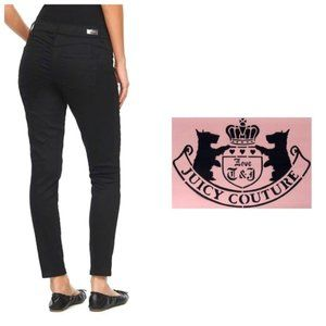 JUICY COUTURE Black Cropped Mid Rise Jeggings